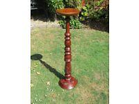 Antique hard wood pedestal