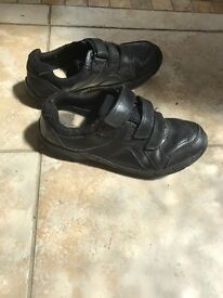 Clarks boys school shoes size 3 and half E
