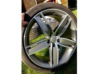 "Brand new Audi 19"" alloys and continental tyres"