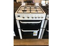 SERVIS BRAND NEW 60CM ALL GAS COOKER IN WHITE WITH LID