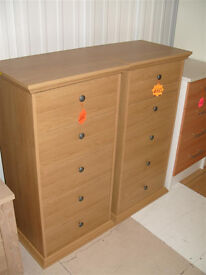 Canterbury 5 Drawer Chest - Oak effect (Please call - Michal 07851770393)