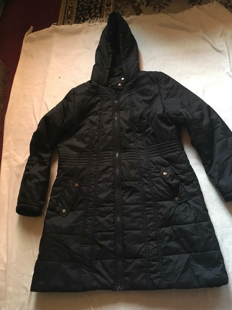 South ladies coat puffy size 16 black £10