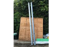 110mm grey soil pipe 3m with top vent fittings grey X2 £15