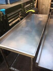 Stainless Steel commercial catering equipment & tables and one with sink from 2.5ft up 8ft