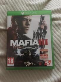 Mafia 3 Xbox one (like new)