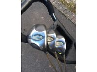Full set of ladies golf clubs with bag
