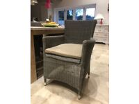 Two Hartman Westbury Garden Patio chairs with weather proof cushions