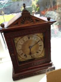W & H mantle clock.