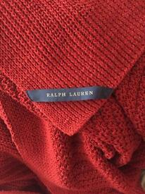 Ralph Lauren red throw/blanket