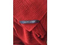 Ralph Lauren red throw/blanket