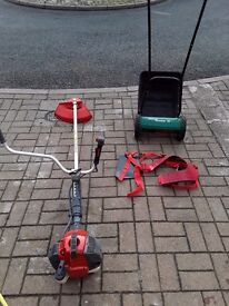 Efco strimmer and qualcast panther 30 push mower
