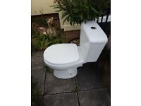 toilet and basen with vanity unit. good condition