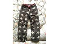 Boden star jogging bottoms Age 9 years