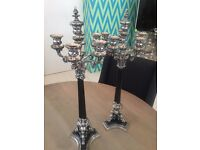 Stunning Edwardian Candelabras - 2 available - make me an offer - gorgeous!