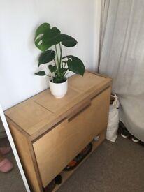 Drop-Leaf Tablet Desk - Shelf with Desk