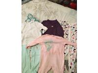 4 brand new baby grows 12-18months