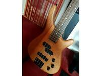 Stagg bc300 natural satin finish electric bass guitar