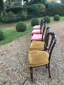 Victorian chair set of 5