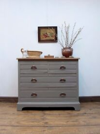 Antique Painted Oak Chest of Drawers