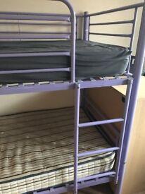 Purple bunk bed - no mattresses