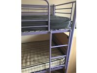 Purple bunk bed - no mattresses