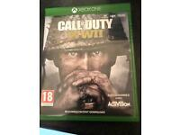 Xbox One Call of Duty WWII game like new