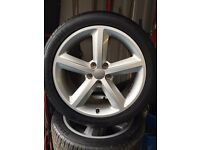 "New Model Audi A4 S-Line Alloys 18"" Nearly new tyres"