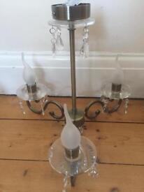Chandelier 3 pendant glass droplet ceiling light