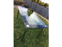 Italian Glass Dining Table - Seats 6