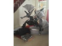 iCandy Peach 2 Silvermint Double Pushchair CAN POST