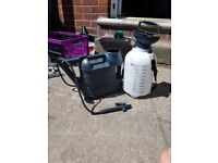 5 litres pressure sprayer and large watering can