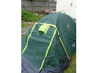 2 man Regatta dome tent has hardly been used and is in very good condition.
