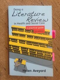 Helen Aveyard's Doing a literature review in Health and Social Care 3rd Ed.