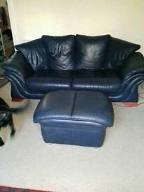 3 seater sofa, 2 chairs and footstool