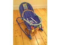 Baby rocker chair, armchair. Vibrating
