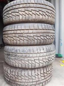 215 60 16 ALL WEATHER TIRES ALMOST NEW