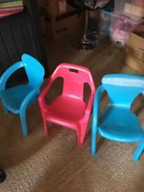 Kids garden chairs