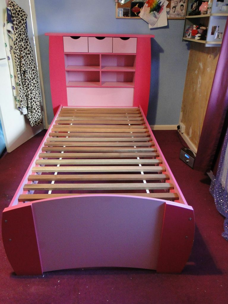 Kidspace Bedroom Furniture Kidspace Orlando Single Bed With Storage Shelves Matching