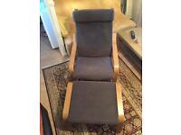 IKEA armchair poang & foot stool