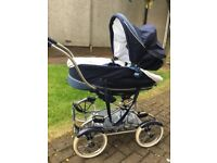 Bebecar Stylo navy blue pram/buggy with all accessories