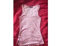 Women's original Playboy pink vest top