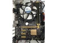Motherboard CPU ram and cooler