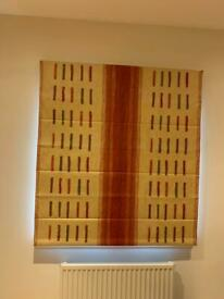 Red and yellow Roman blind