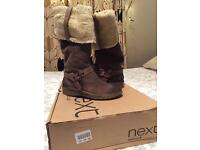NEXT New Brown Suede Knee High Boots