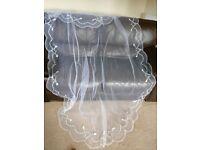 Wedding veil white full length
