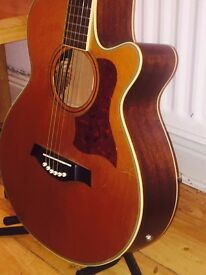 Tanglewood TW45N-NS Solid Wood Electric Acoustic Guitar + Soft bag + Strap