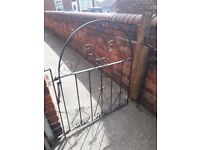 nice old garden gate with brackets etc