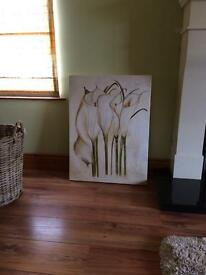 Large lily canvas