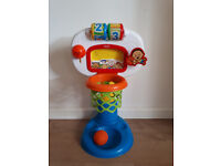 Basketball hoop toy for baby and toddler