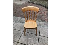 Pine effect cottage style dining chair
